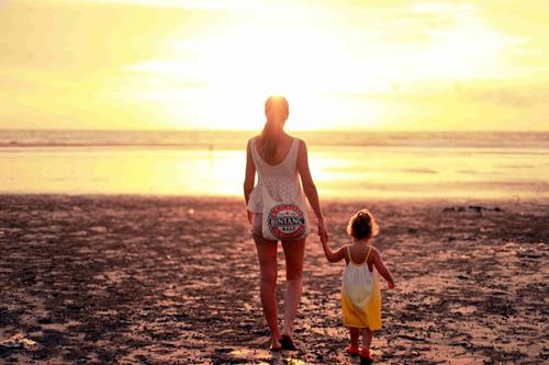 Mother and Daughter at Sunset - credit Chema Photo